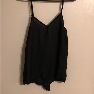 Black tank with bow on back